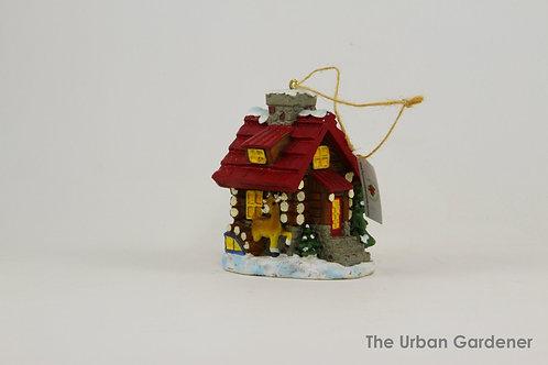Cozy Christmas Cabin Ornament