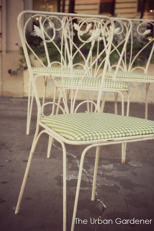 Vintage Set of Four Patio Chairs