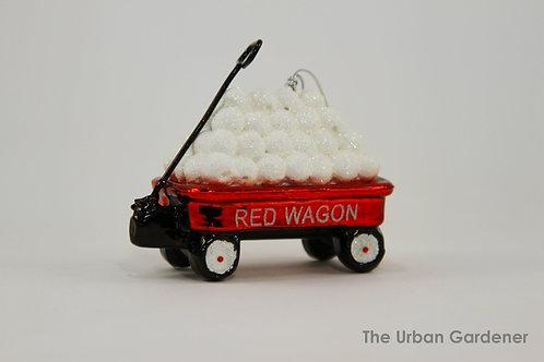 Red Wagon Christmas Ornament