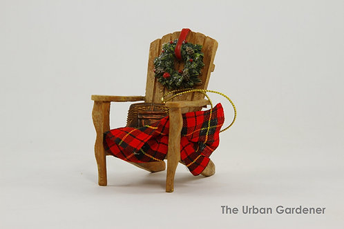 Cozy Cabin Chair Christmas Ornament