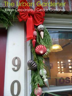 Fresh Decorated Cedar Garland