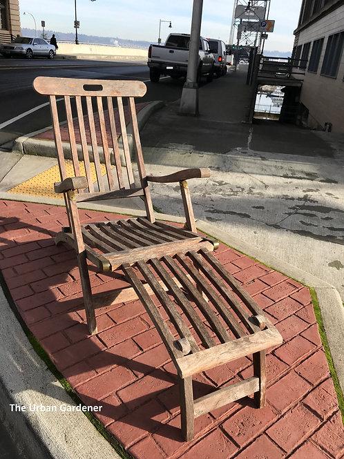 Sold: 1930's Teak Steamer Deck Chair