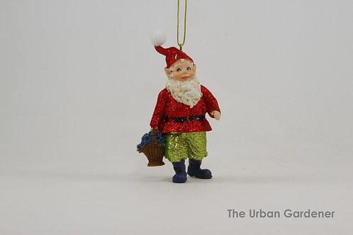 Garden Gnome Christmas Ornament
