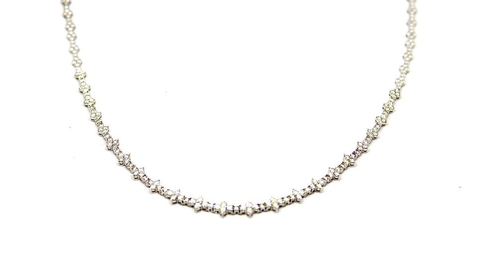 white gold white diamond tennis necklace, Barrett Ford Jewelry