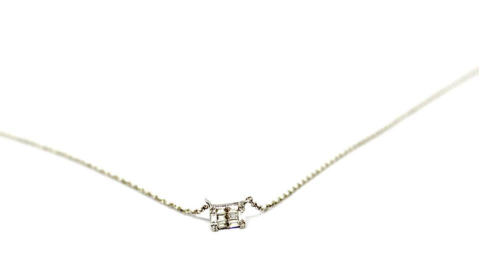 square diamond necklace, Barrett Ford Jewelry