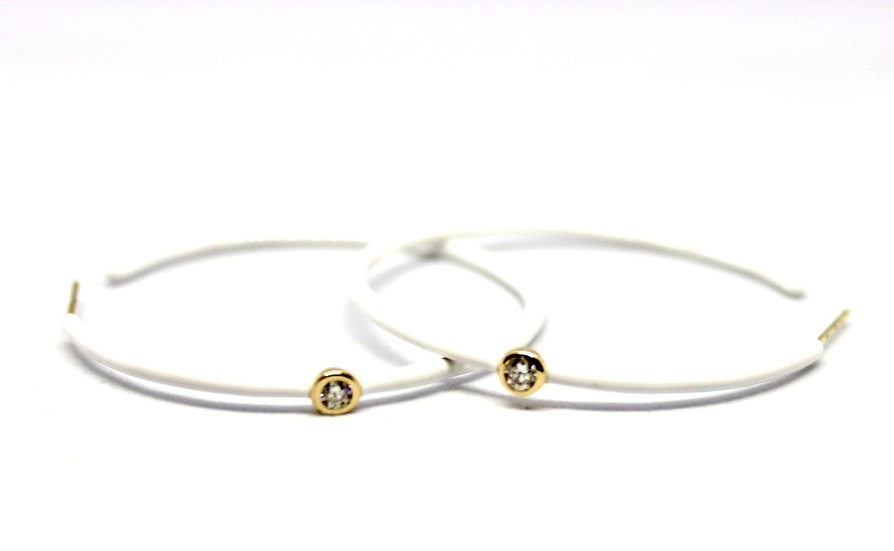 diamond bezel set hoop earrings, barrett ford jewelry