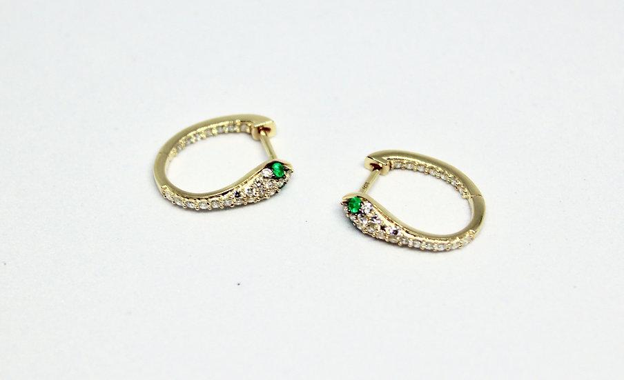 oval snake eyes earrings
