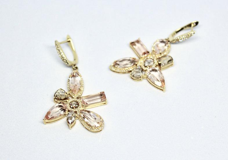 zinnia earrings