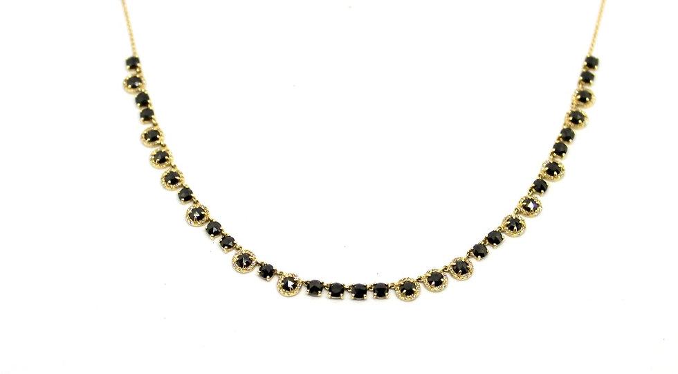 black and pave diamond tennis bracelet, Barrett Ford Jewelry