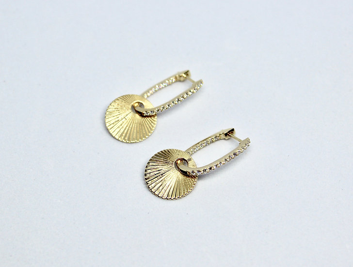 sunrise charm earrings