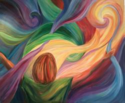 """""""Adoratio"""" Acrylic on Canvas 30""""x36"""""""