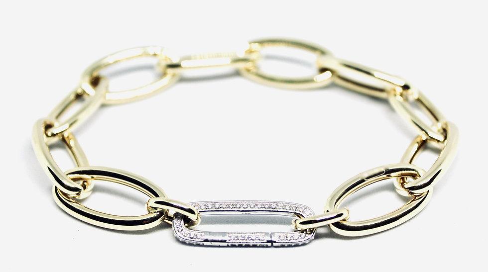 dressed up chunky paper clip bracelet