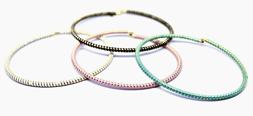 Twisted Enamel Bracelet