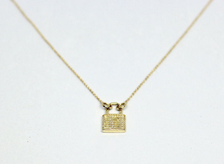 tiny padlock necklace