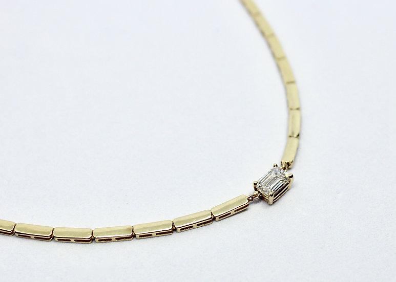 emerald cut solitaire necklace