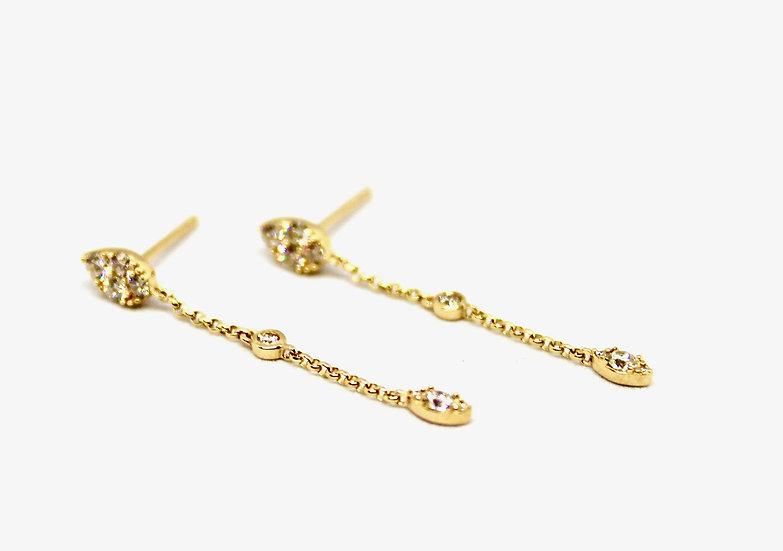 Marquis Chain Studs