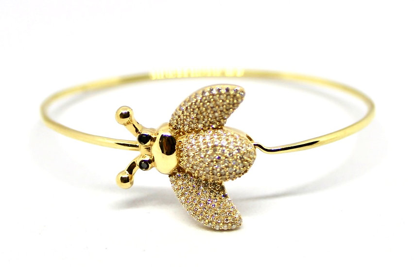 diamond and gold bumble bee bracelet, barrett ford jewelry