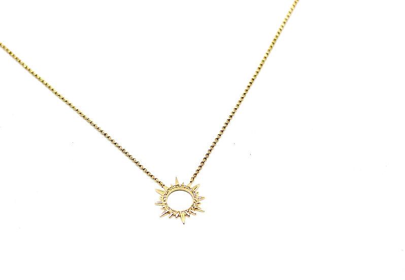 Open Sun Necklace
