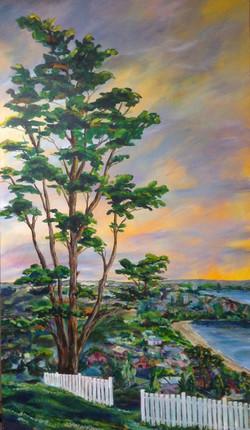 """Narrow Neck Sky"" Acrylic on Canvas"