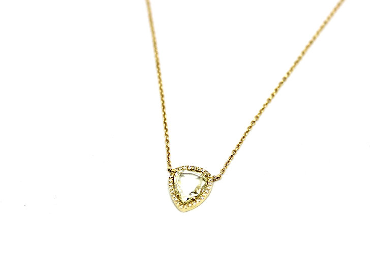 Rosecut Solitaire Necklace