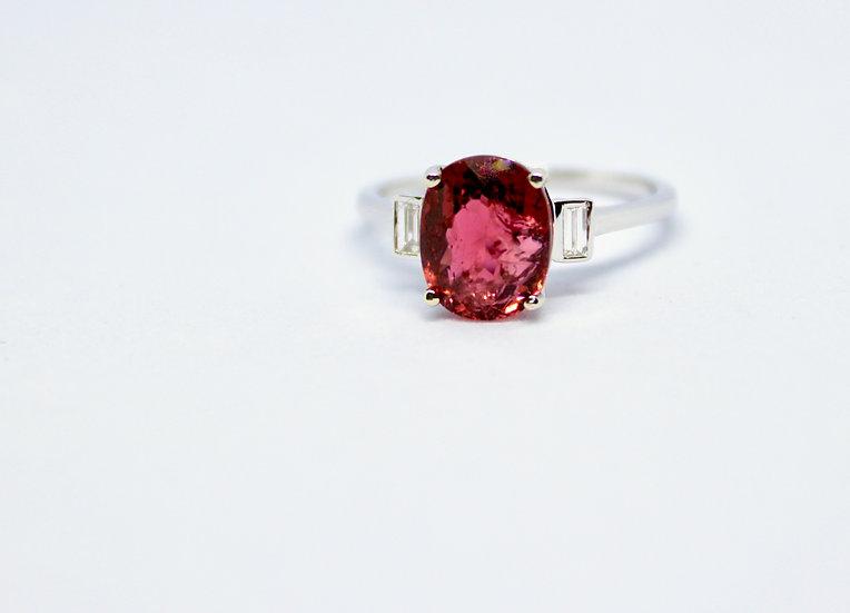 blushing oval ring