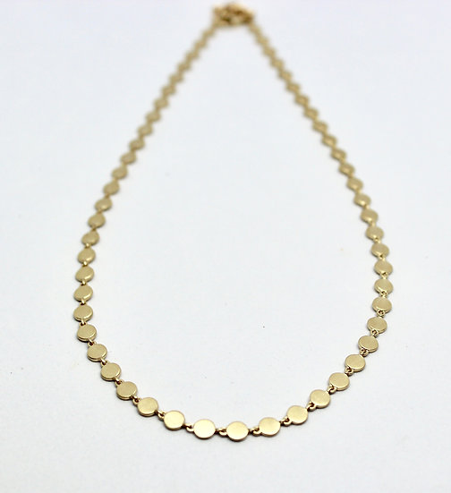 filtered gold necklace