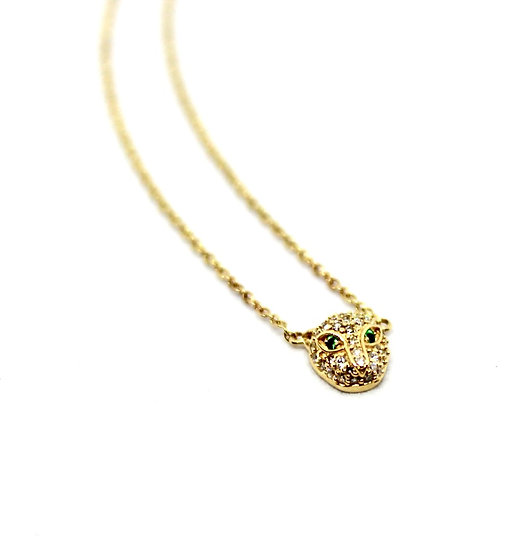 baby jaguar gold and diamond necklace, barrett ford jewelry
