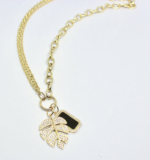 two-sided chain necklace