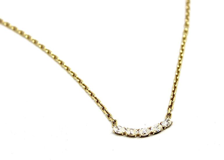 mini diamond collar necklace, barrett ford jewelry