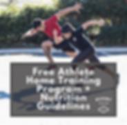 Free Athlete Home Training Program + Nut