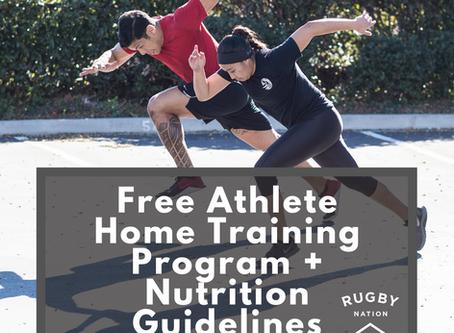 Free Athlete Home Training Program + Nutrition Guidelines
