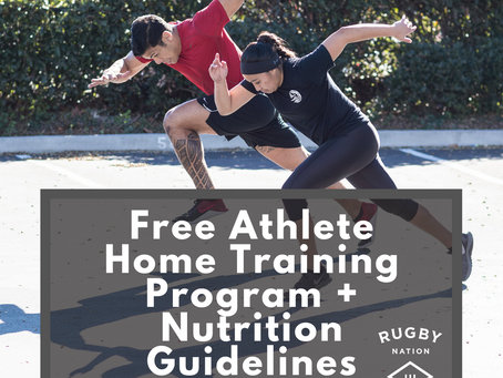 Free Athlete Home Training Program + Nutrition Guidelines