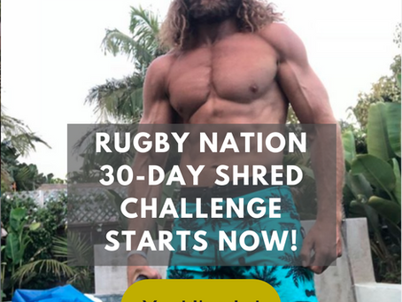 "The New Rugby Nation ""Shred Fat Like A Pro Athlete"" Program Doesn't Require A Gym To Succeed"