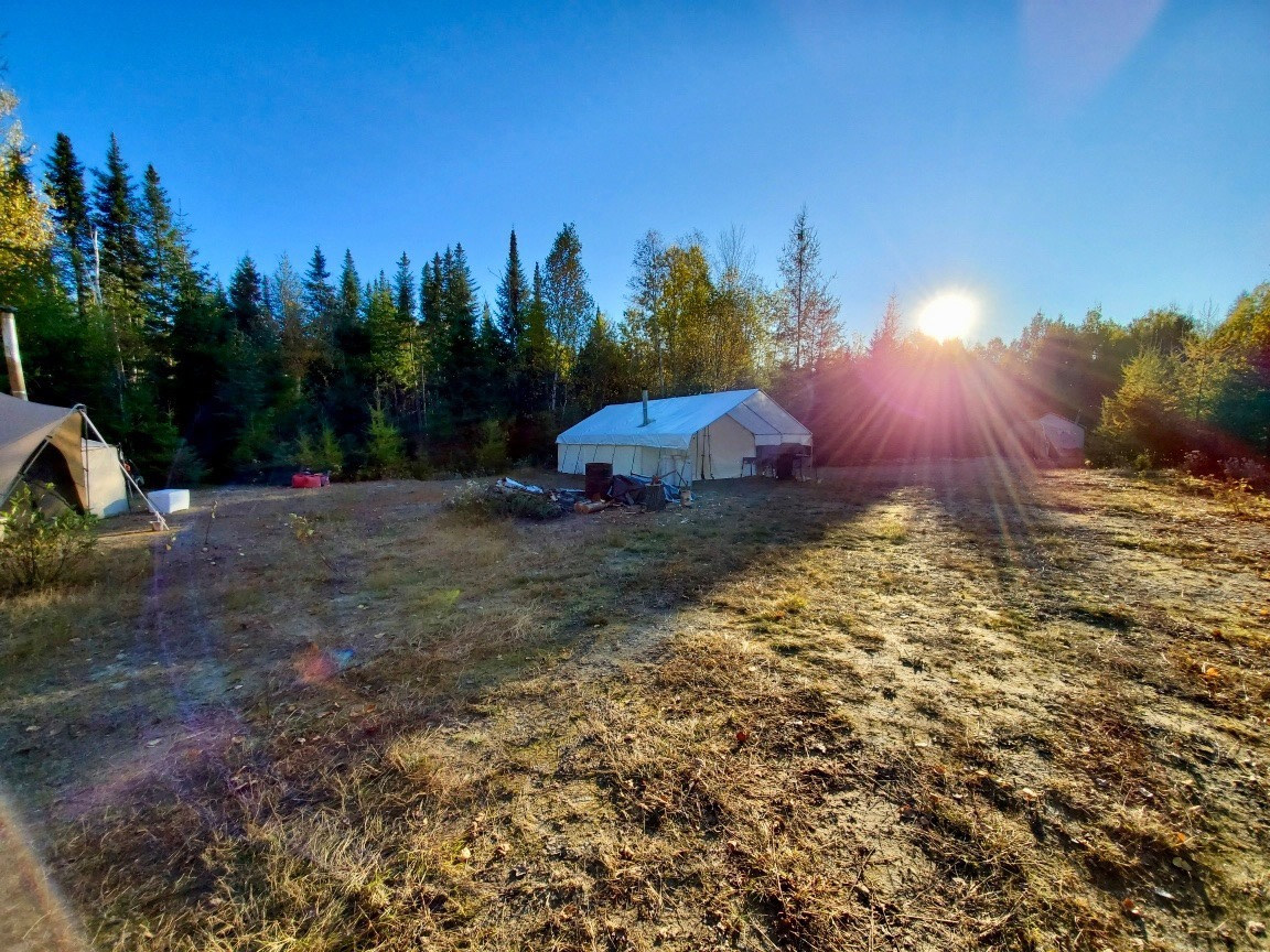 Beautiful morning at moose camp