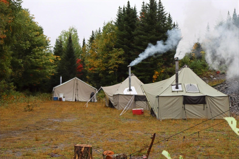 A cool damp morning at moose camp