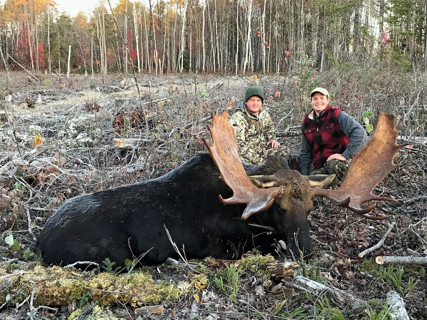 Guides Jerod and Robert with a trophy October bull