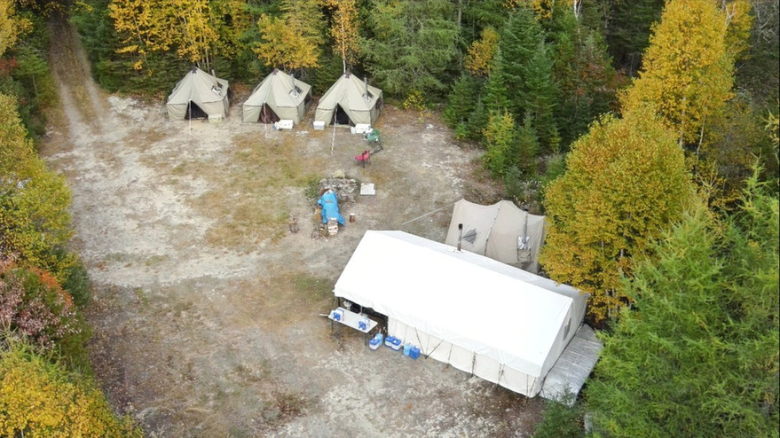 Big Mountain Outfitters remote moose camp 2020