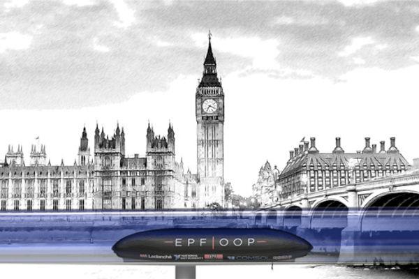Premier montage image et premières versions design du POD EPFLOOP