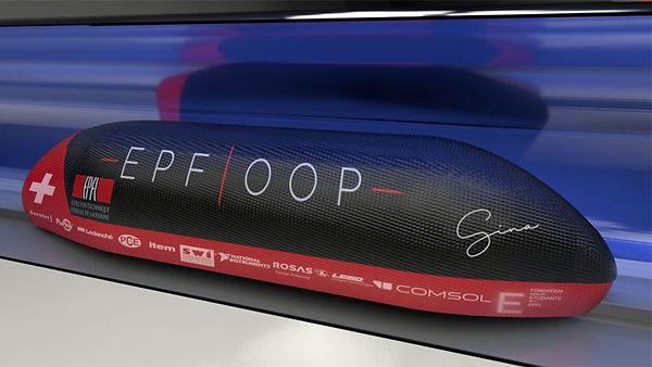 Une des dernières versions design du POD EPFLOOP en 3D