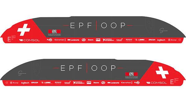 Version finale du design graphique du POD EPFLOOP