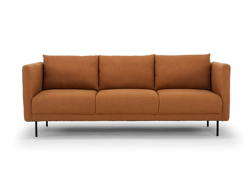 Kano 3 Seater Sofa Rust