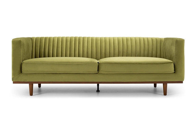 Madison 3 Seater Greenery Velvet