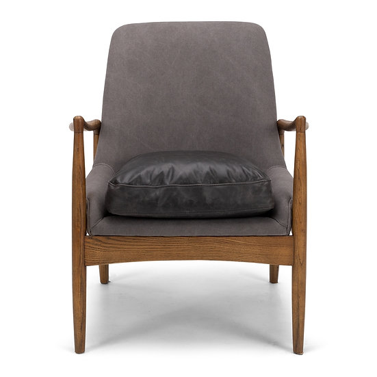 Steiner Canvas Armchair (Charcoal)