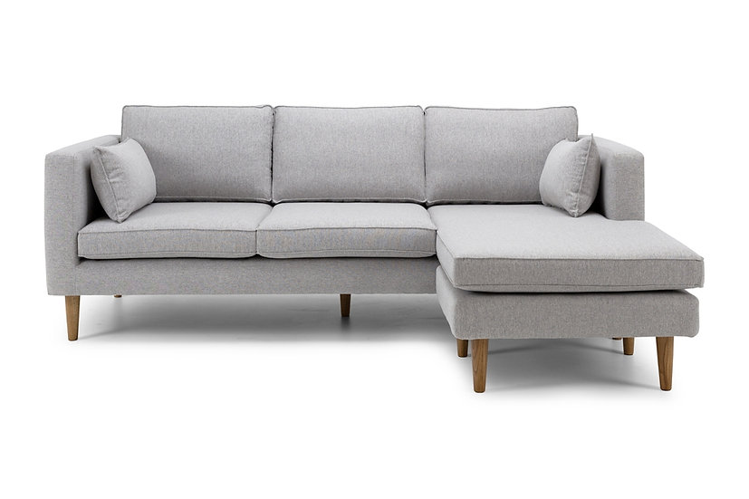 Nord 3 Seater Sofa + Chaise (Grey)