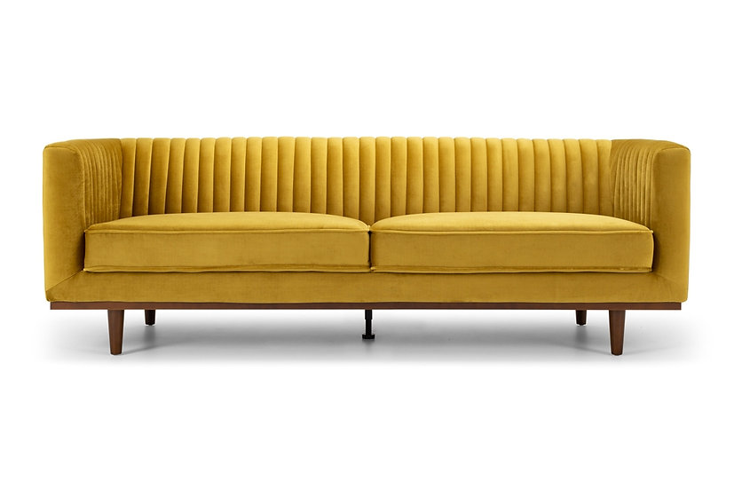 Madison 3 Seater Golden Velvet