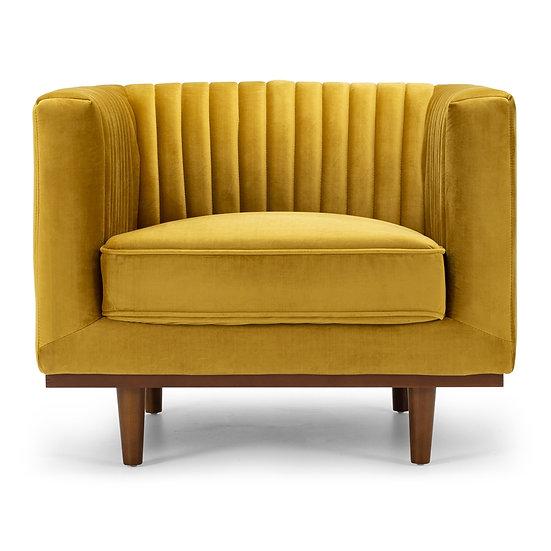 Madison Armchair Golden Velvet