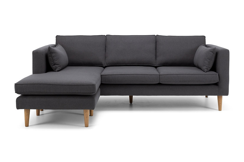 Nord 3 Seater Sofa + Chaise (Charcoal)