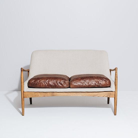 Steiner 2 Seater Canvas Sofa (Cement)