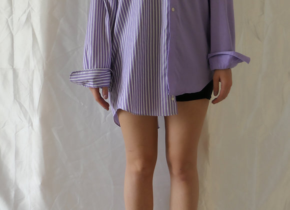 STRIPES AND SOLIDS BUTTON-DOWN