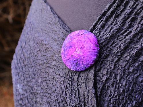 Purple Silk Magnet Button
